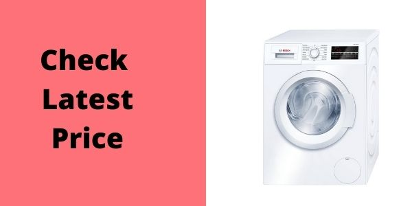 One-touch power and pause buttons.  Bosch WAT28400UC 300 2.2 Cu. Ft