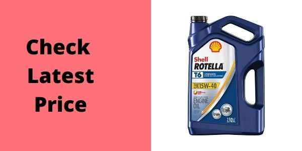 Shell Rotella T6 Full Synthetic 15W-40 Diesel Engine Oil